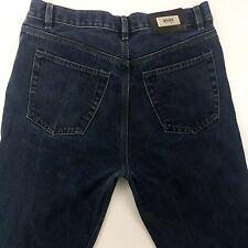 HUGO BOSS ALABAMA Men Vintage Jeans W34 L31 Dark Blue Regular Straight High Rise