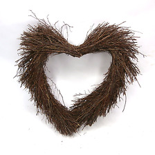 Twig Heart Wreath Willow Wreath Wicker Wreath Rustic Country Style Wreath Circle