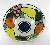 Limburg Dom Keramik Salatschüssel handbemalt Früchte Obstschale mid century mcm
