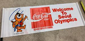 Rare 1983 Hodori SEOUL OLYMPICS 1988 Original  ADVERTISING POSTER BANNER Coke