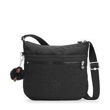 Kipling ARTO Medium Across Body/Shoulder Bag in TRUE BLACK - RRP £64