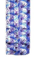 Scarf Long White Background Blue Violet Birds Ostrich Feathers
