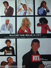 PUBLICITÉ 1999 RTL VIVRE ENSEMBLE CHRISTOPHE DECHAVANNE - ADVERTISING