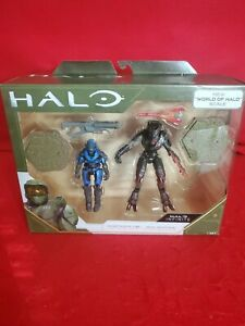 NEW! Halo Infinite !World of Halo! Spartan MKV B and Jega Roomnai  Figures