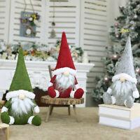 de fiesta Santa Claus. Muñecas de peluche árbol de Navidad Adornos de Navidad