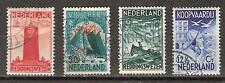NVPH Netherlands Nederland 257 258 259 260 gest used 1933 zeemanszegels Pays Bas