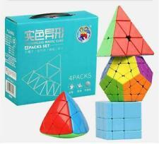 Shengshou GEM Stickerless Pyramid Bundle Magic Cube Puzzle Set Pack Gift Box