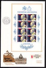 Briefmarken aus Liechtenstein mit Ersttagsbrief