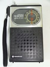 Vintage Sanyo RP 5050 Portable FM / AM Transistor Radio Tested & Working