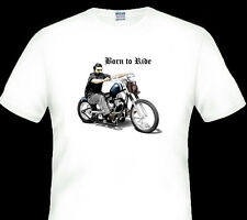 NED KELLY  ON A  HARLEY  BORN TO RIDE  TSHIRT  MEN'S LADIES KID'S SIZES