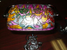 NEW COLLECTIBLE GRATEFUL DEAD ART INSPIRED DANCING BEARS BANKER TIFFANY LAMP