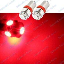 (2) Brilliant Red 5-SMD High Power Error Free H6W 64132 BA9s LED Bulbs