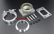 """T25 T28 Turbo Inlet To 3"""" V Band Stainless Steel Flange Adp w/ GSK CLAMP RING ST"""