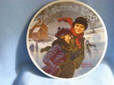 Set Of Two Christmas Plates 1981 & 1982 Bradford Norman Rockwell Plate