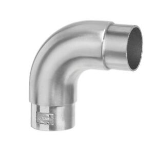 90 Degree Curved Stainless Steel Elbow To Suit 42.4mm Dia x2 THK Handrail