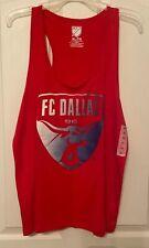 New Women's Red FC Dallas Tank Top By MLS