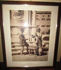Foto di Alinari 63 x 53 cm Palermo acquaiolo