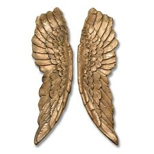 HUGE Pair of Angel Wings Gold Finish Wall Hanging Ornamental Display Gift