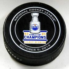 EDMONTON OILERS 1983-84 STANLEY CUP CHAMPS LEGACY REUNION OFFICIAL PUCK! US00608
