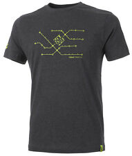 GHOST T-Shirt - Tee SQUARE titanium gray / lime green 2017 - S