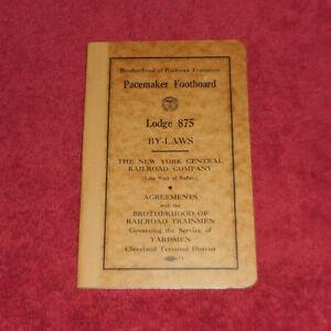 1946 Brotherhood of Railroad Trainmen Lodge 875 Agreement New York Central RR