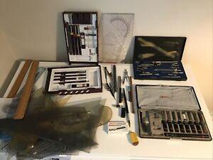ROTRING JOBLOT-Pens/Stencils/Compasses/Technical Pens