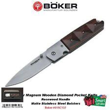 Boker Magnum Wooden Diamond Pocket Knife, Rosewood Handle #01SC137