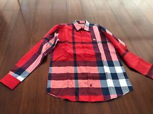 NEW BURBERRY LONDON ENGLAND long sleeve shirt sizes M L XL red