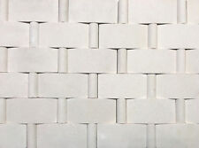 Champagne Limestone Fences 2x4 with insert Mosaic Wall Tile Backsplash