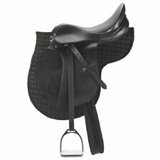 Kerbl Sella per Pony piccola Cavallo equitazione in Pelle Nera 32196