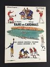 1949 NFL Program Memorial Coliseum Chicago Cardinals Vs LA Rams Football Game