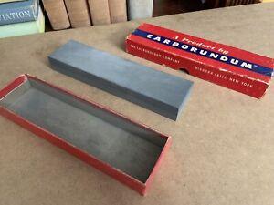 Carborundum Combination Sharpening Stone 108 Silicon Carbide 8x2x1 Vintage NY