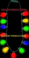 NEW! HOLIDAY GLOW CHRISTMAS BULB NECKLACE RETRO LIKE THEME PARK JUMBO LED