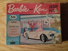 RARE VINTAGE 1963 WHITMAN BARBIE AND KEN @ ICE CREAM SHOP! 100 PIECES HTF OOP!
