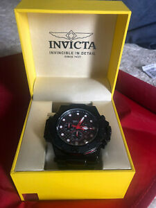 New Men's Invicta Akula 25386 58 mm Black Stainless Steel Watch New In Box