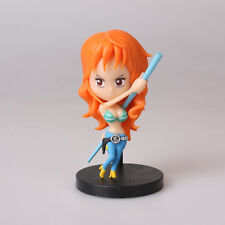 "New 3.1"" 8Cm Nami Straw Hat Pirates One Piece Licensed Anime Mini Figure Toys"