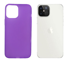"Funda Carcasa Gel TPU Silicona Lisa Para Apple iPhone 12 Pro Max 5G 6.7"" Morado"