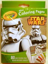 Coloring Pages STAR WARS Mini with Markers Children Art Craft Crayola