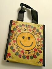 """Natural Life recycled plastic bag. 6""""x5.5"""" Small Gift Bag  Smiley Happy Face"""