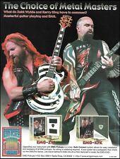 Zakk Wylde & Kerry King EMG Signature Guitar Pickups ad 8 x 11 advertisement