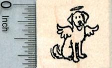 Tiny Dog Angel Rubber Stamp, Labrador Retriever A32718 WM
