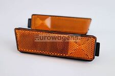 VW Golf MK3 95-98 Orange SIDEMARKERS Lampes Set Paire US pare-chocs uniquement
