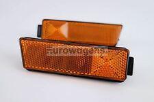 VW Golf MK3 95-98 Orange Sidemarkers Lights Lamps Set Pair US Bumper Only