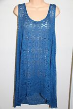 NWT Profile by Gottex Swimsuit Bikini Cover up Tunic Dress Plus Sz 1X Ocean Blue