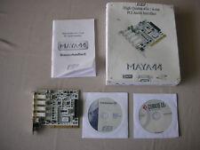ESI Maya 44 4IN 4OUT PCI + Manual + CD Driver + Cubase LE4 + Original Box