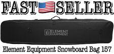 Element Equipment 157 Snowboard Bag with Shoulder Strap and Gear Pockets, Black