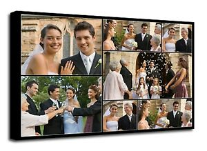 Personalised Photo Collage Canvas Printed - ready to hang - 7 photos f106