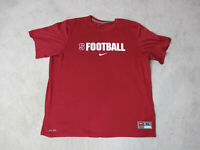 Nike Stanford Cardinal Shirt Adult Extra Large Red White Dri Fit Football Mens