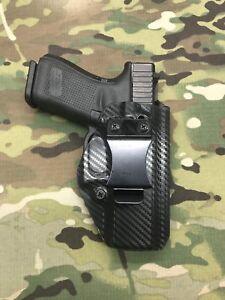Carbon Fiber Kydex IWB Holster for Glock 19/23 w/Adjustable Ret- App Draw