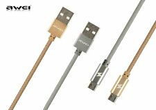 Awei CL-400 Gold Nylon Wires USB Cable for Android Phones (1M)